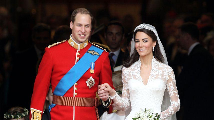 Prinz William und Herzogin Kate bei ihrer Hochzeit, April 2011
