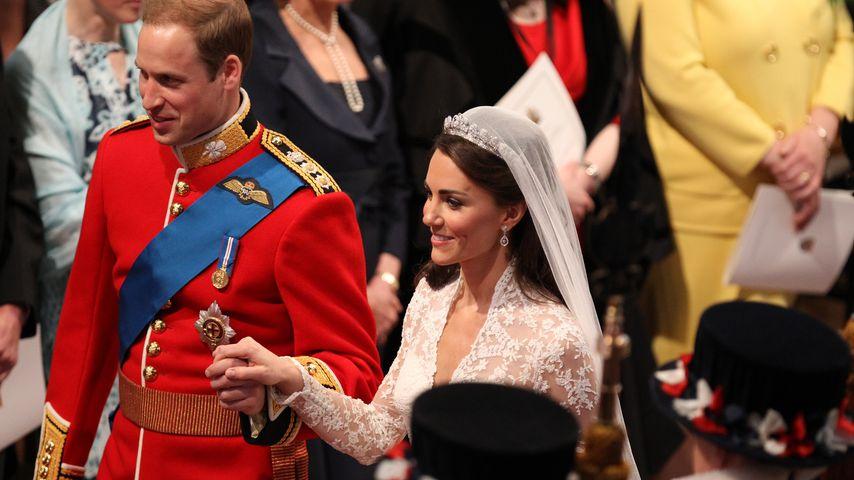 Prinz William und Herzogin Kate bei ihrer Hochzeit im April 2011