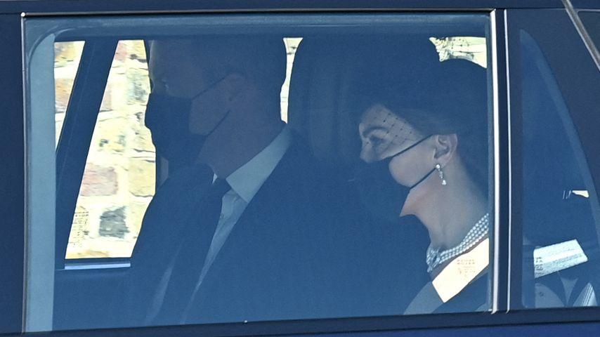 Prinz William und Herzogin Kate bei der Trauerfeier von Prinz Philip