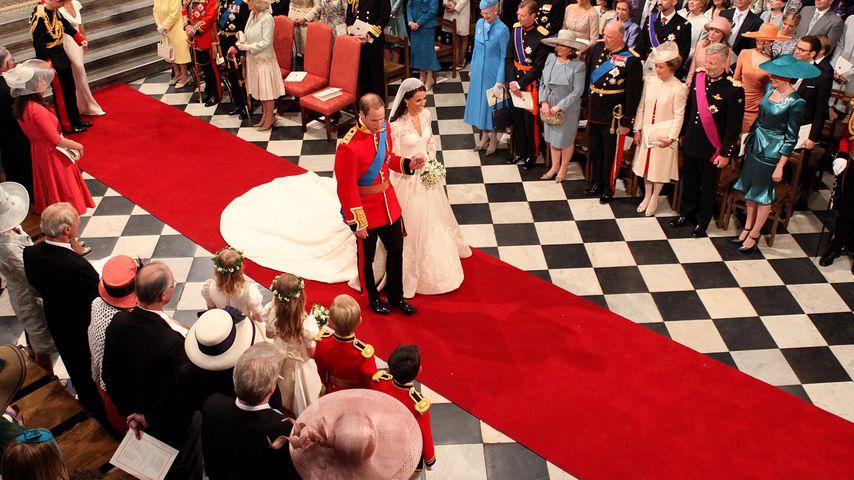 Prinz William und Herzogin Kate auf ihrer Hochzeit im Jahr 2011
