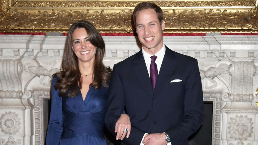 Prinz William und Herzogin Kate bei der Bekanntgabe ihrer Verlobung, 2010