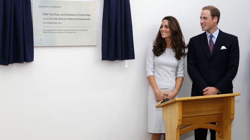 Prinz William und Herzogin Kate im The Royal Marsden Krankenhaus in London im September 2011