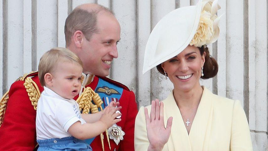 Prinz William und Herzogin Kate mit ihren Kindern George, Charlotte und Louis