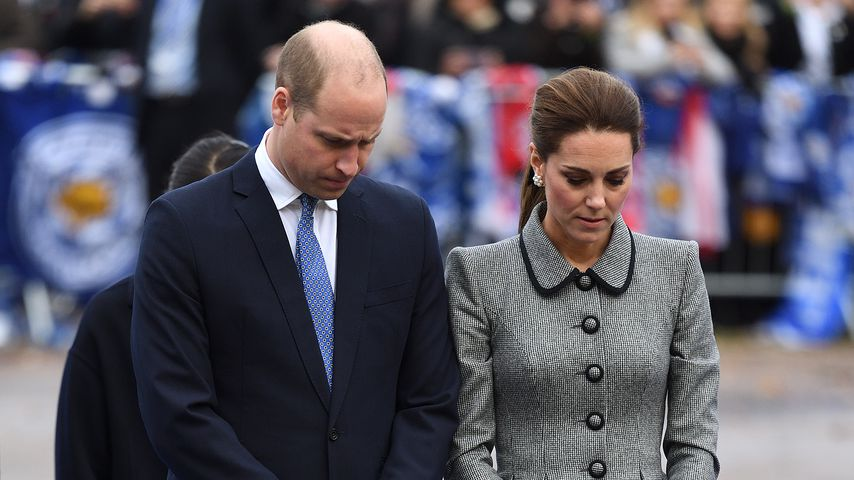 Prinz William und Herzogin Kate bei Trauerfeier für Opfer des Helikopterabsturzes in Leicester
