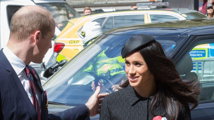 Prinz William und Meghan Markle am Anzac Day am 25. April