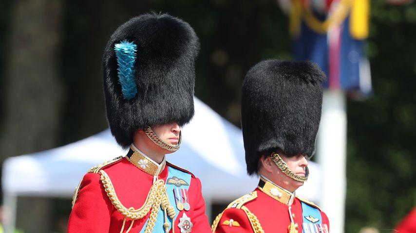 Erkannt? William & Charles eskortierten die Queen zu Pferd!