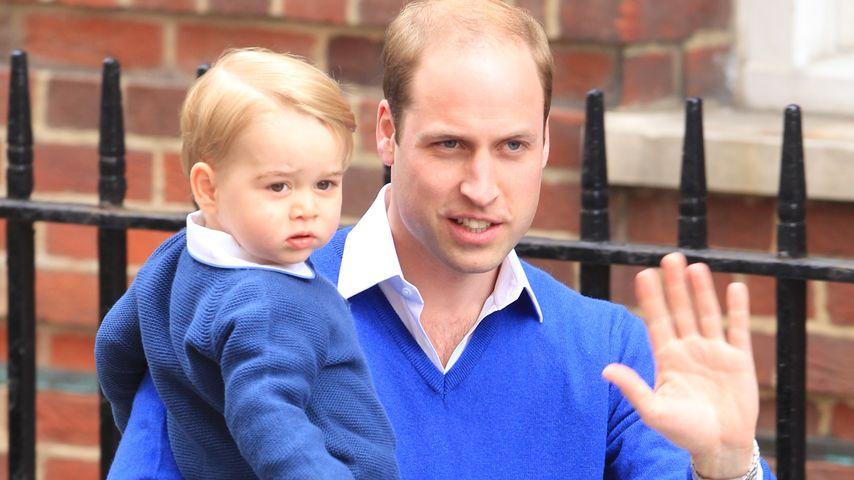 1. Auftritt: So strahlt Prinz William nach der Geburt!