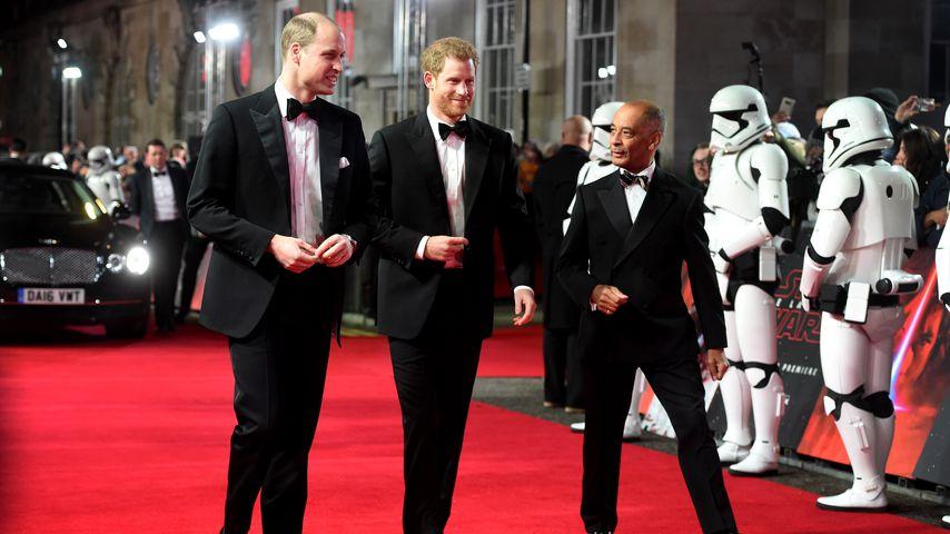 """Prinz William und Prinz Harry bei der Premiere von """"Star Wars: Der letzte Jedi"""""""