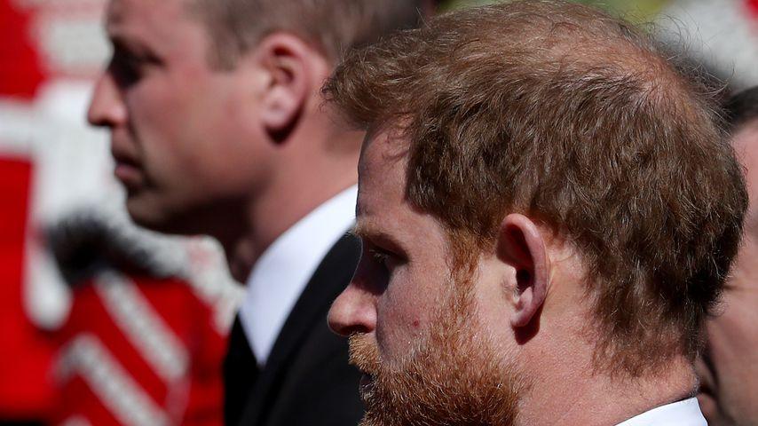 Prinz William und Prinz Harry bei Prinz Philips Beisetzung