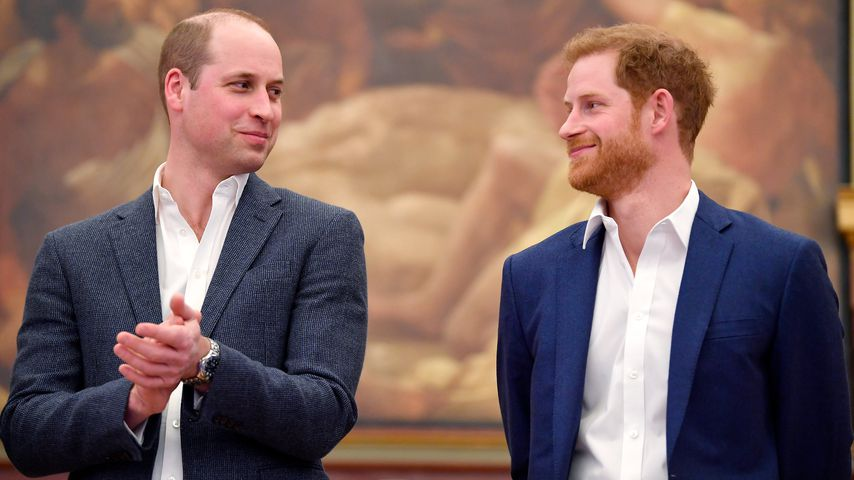Prinz William und Prinz Harry bei einem Event in London im April 2018