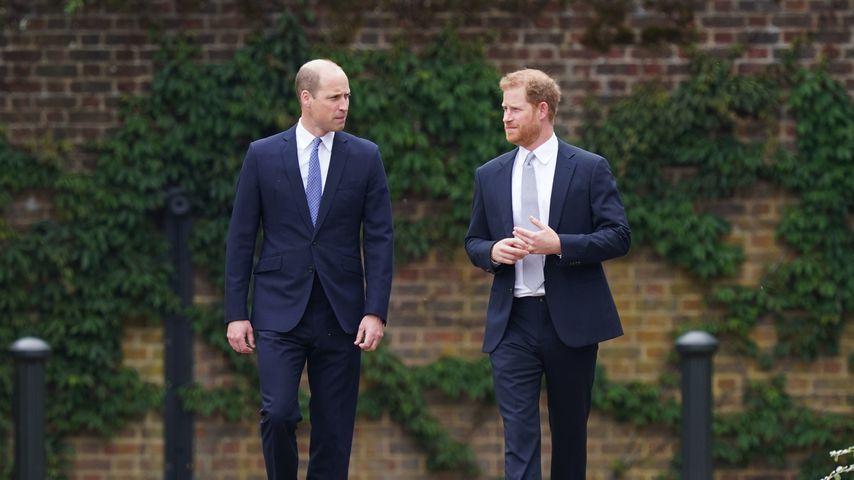 Prinz William und Prinz Harry bei der Enthüllung der Diana-Statue im Juli 2021