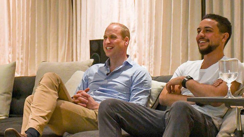 Royaler WM-Abend: Prinz William & Prinz Hussein fiebern mit!