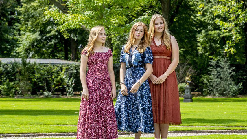 Prinzessin Ariane, Prinzessin Alexia und Prinzessin Catharina-Amalia bei einem Fotoshooting