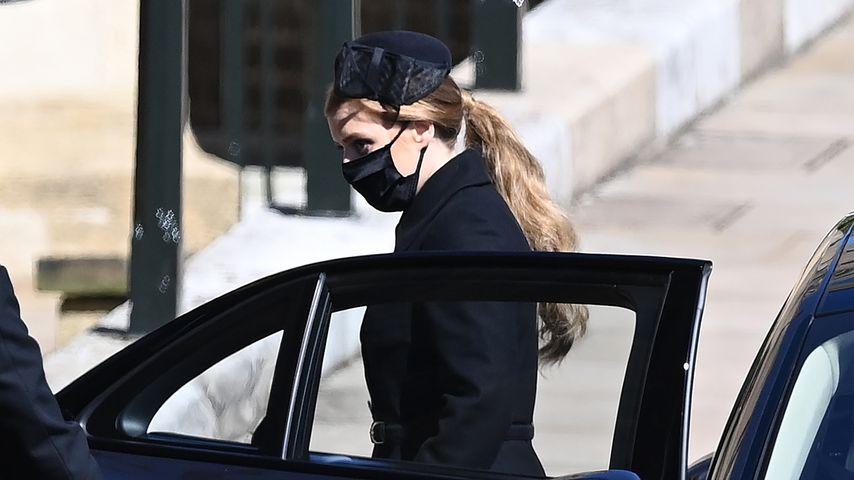 Prinzessin Beatrice bei der Beerdigung von Prinz Philip