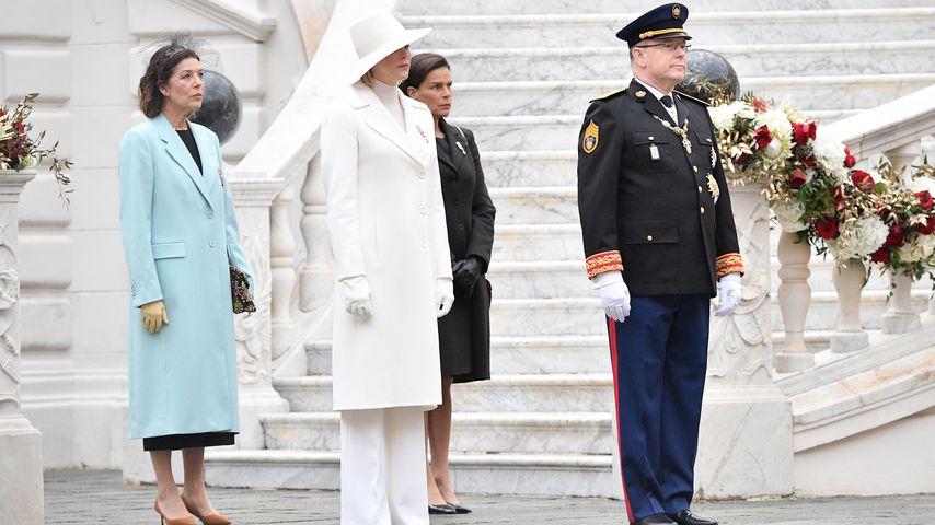 Prinzessin Caroline, Fürstin Charlène, Prinzessin Stephanie und Fürst Albert II. im November 2019