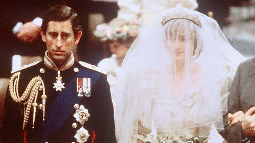 Prinz Charles und Prinzessin Diana bei ihrer Hochzeit