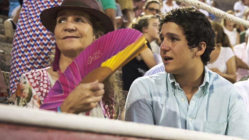 Prinzessin Elena von Spanien und ihr Sohn Felipe Juan de Marichalar bei einem Event auf Mallorca
