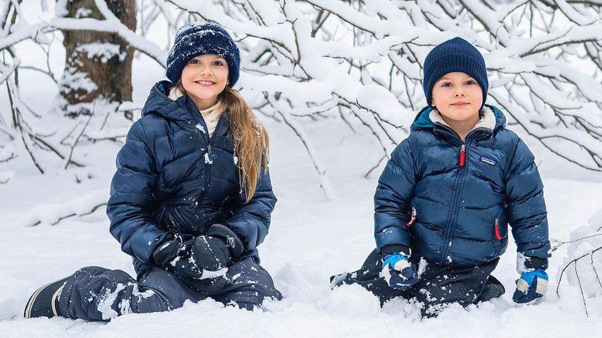 Prinzessin Estelle und Prinz Oscar von Schweden, März 2021