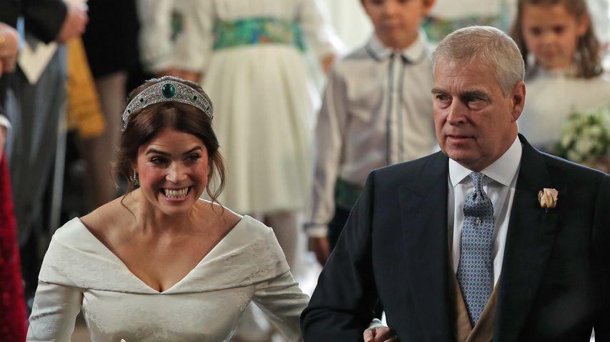 Prinzessin Eugenie mit ihrem Vater Prinz Andrew
