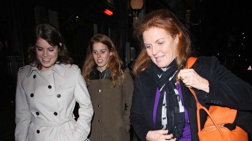 Prinzessin Eugenie, Prinzessin Beatrice und Sarah Ferguson in London