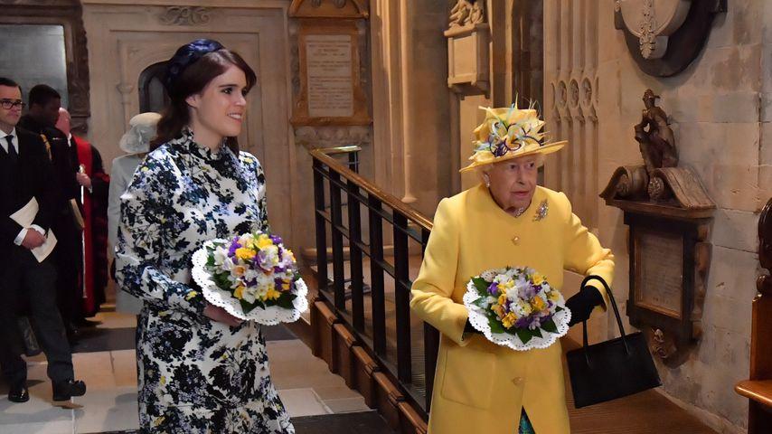 Prinzessin Eugenie und Queen Elizabeth II. im April 2019