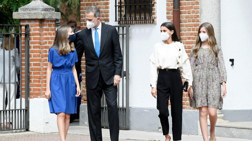 Prinzessin Leonor, König Felipe von Spanien, Königin Letizia und Prinzessin Sofia, Mai 2021