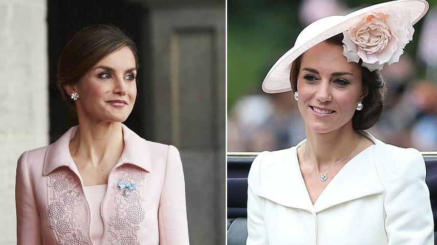 Letizia vs. Kate: Diese Prinzessin überzeugt im Pastell-Look