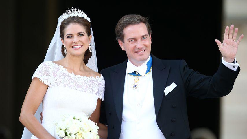 Prinzessin Madeleine und Christopher O'Neill bei ihrer Hochzeit 2013