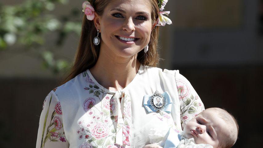 Prinzessin Madeleine von Schweden mit ihrer Tochter Prinzessin Adrienne