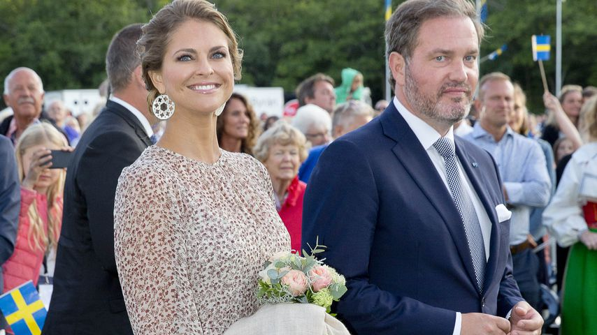 Prinzessin Madeleine von Schweden und ihr Mann Chris O'Neill an Victorias 40. Geburtstag