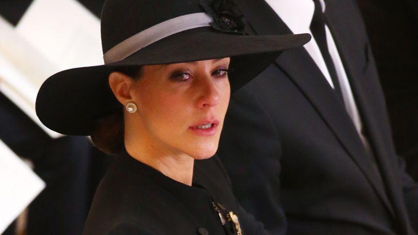 Prinzessin Marie von Dänemark bei der Beerdigung von Prinz Henrik