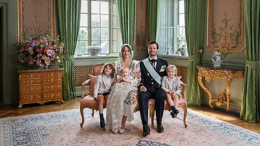 Prinzessin Sofia, Prinz Carl Philip mit ihren Kids Prinz Alexander, Prinz Gabriel und Prinz Julian