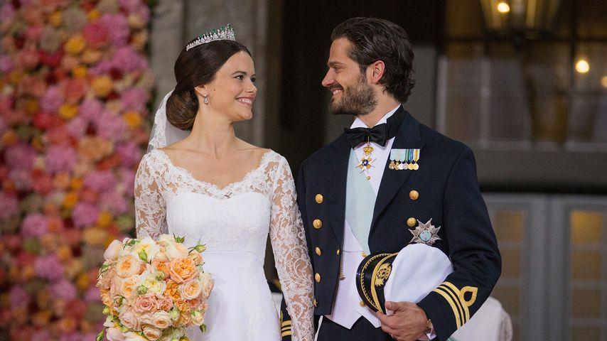 Prinzessin Sofia und Prinz Carl Philip bei ihrer Hochzeit 2015