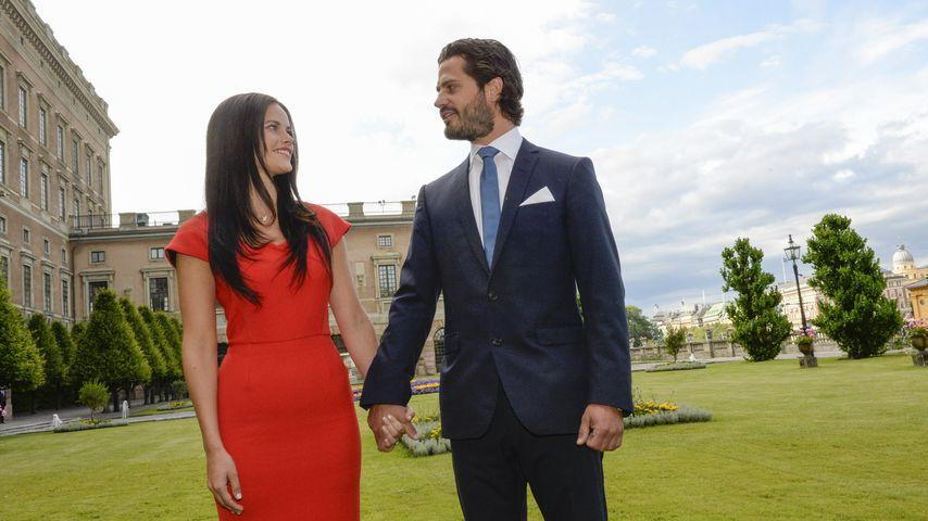 Prinzessin Sofia und Prinz Carl Philip bei der Bekanntgabe ihrer Verlobung