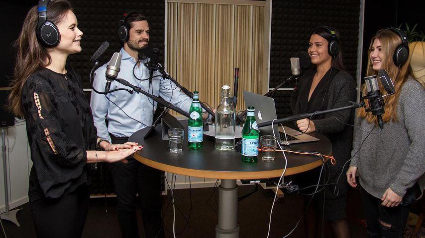 """Prinzessin Sofia und Prinz Carl Philip von Schweden zu Gast bei der Podcast-Show """"Jakten på likes"""""""