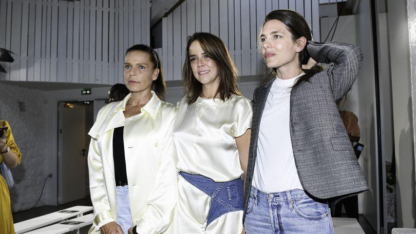 Prinzessin Stephanie von Monaco, Pauline Ducruet und Charlotte Casiraghi, Juni 2019