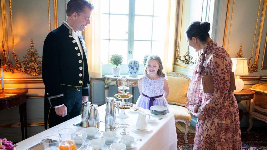 Prinzessin Victoria von Schweden und Emilia im Februar 2020