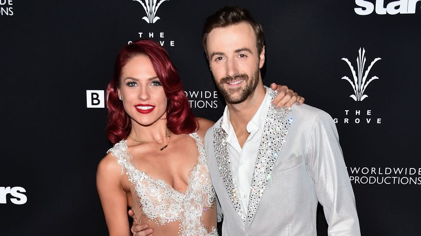 """Profi-Tänzerin Sharna Burgess und James Hinchcliffe beim Finale von """"Dancing with the Stars"""""""