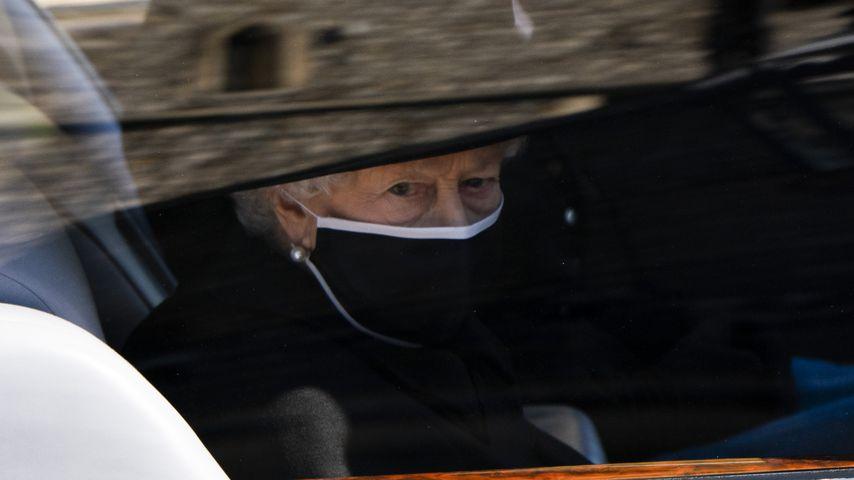 Queen Elizabeth II. am Tag von Prinz Philips Beerdigung