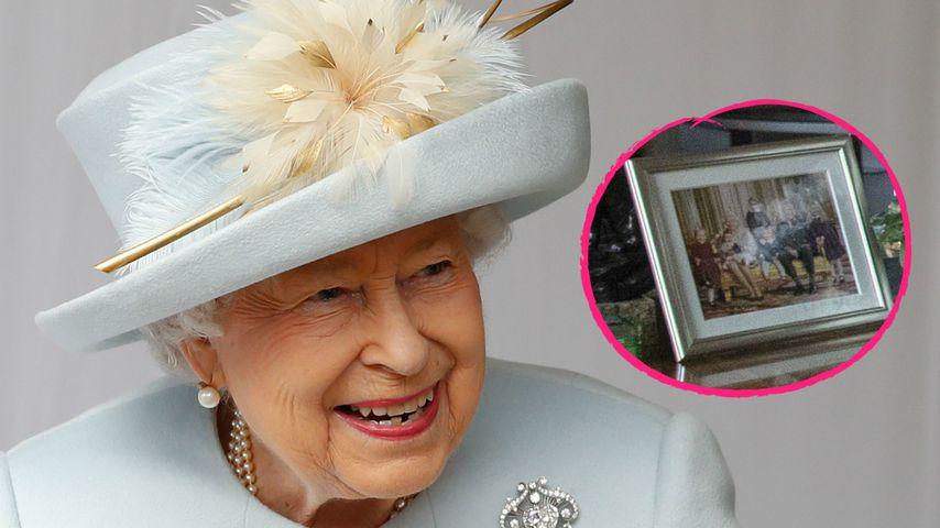 Porträts der Queen: Süße Foto-Überraschung im Hintergrund