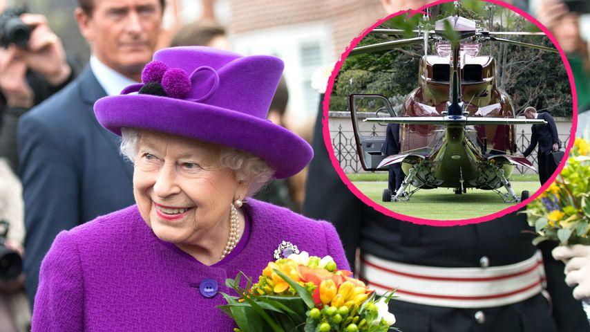 Mit dem Heli: Die Queen fliegt zu ihrem Urenkel Prinz Louis!