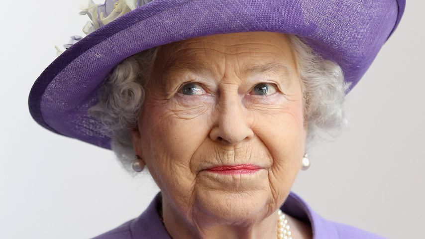 Queen Elizabeth II. in Stevenage in England