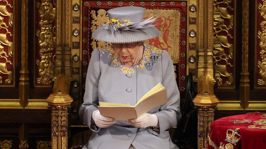 Queen Elizabeth II. bei der Parlamentseröffnung in London, 2021