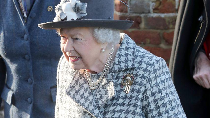 Queen Elizabeth II. bei einem Kirchenbesuch in Sandringham im Januar 2020