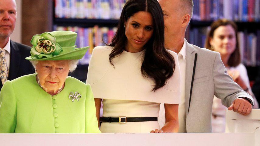 Queen Elizabeth II. mit Herzogin Meghan