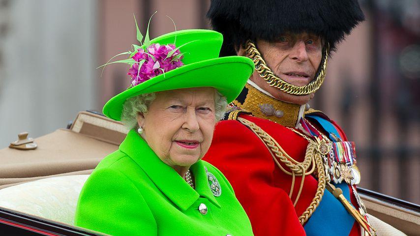 Queen Elizabeth II. und Prinz Philip bei der Trooping-the-Colour-Parade 2016