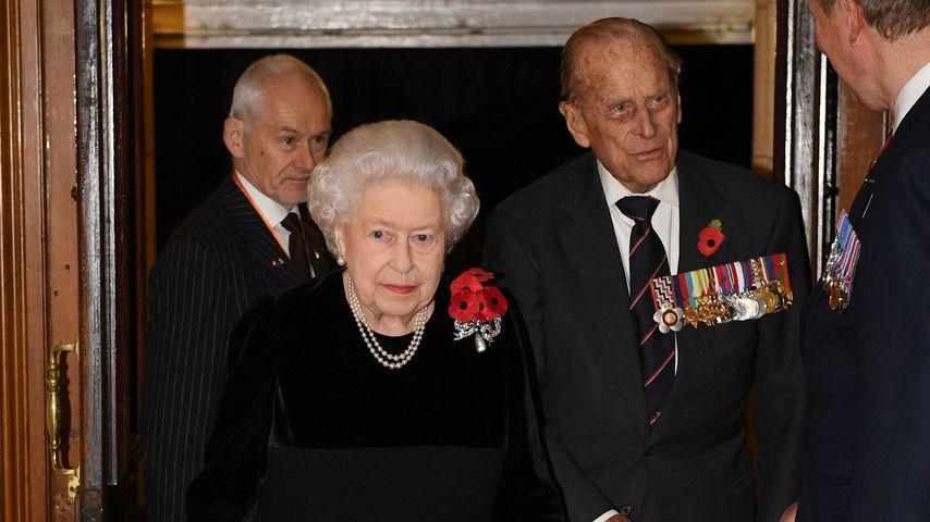 Queen Elizabeth II. und Prinz Philip im Jahr 2017