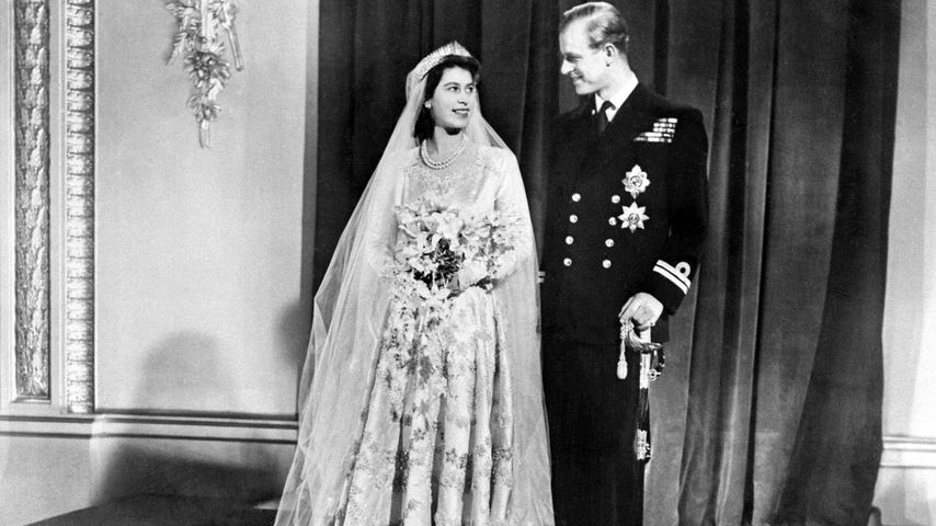 Queen Elizabeth II. und Prinz Philip am 20. November 1947