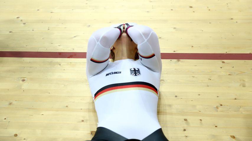 Radsportlerin Kristina Vogel nach ihrer Gold-Fahrt