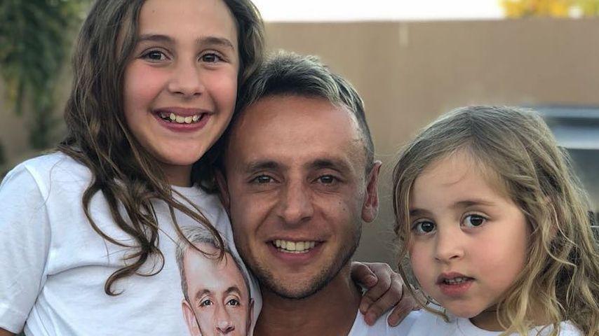 Rafinha mit seinen Töchtern im Oktober 2018